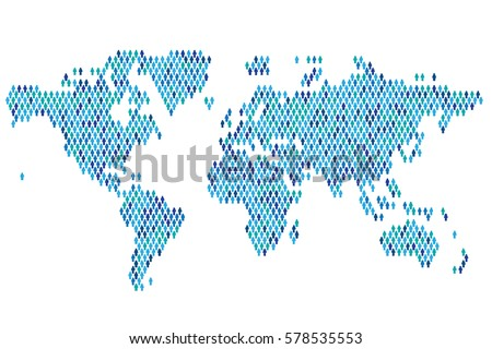 Global population world map made people vectores en stock 578535553 world map made up of people icon gumiabroncs Gallery