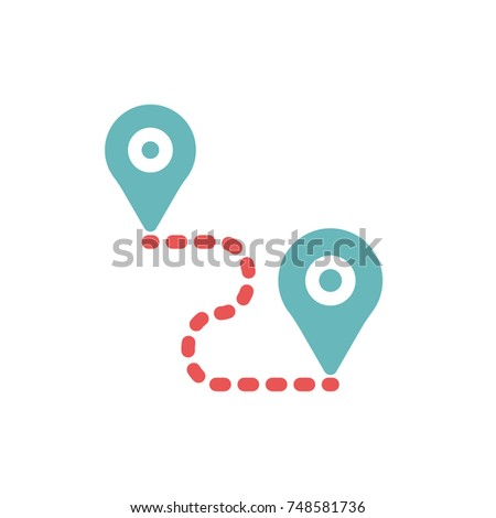 global positioning system icon vector global stock vector hd