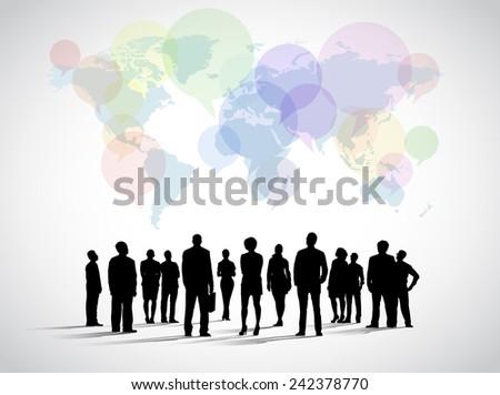 Global Social Networking - stock vector