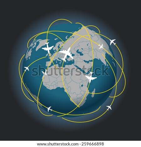 Global travel abstract scheme - stock vector