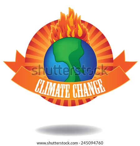 Global warming climate change  icon EPS 10 vector stock illustration