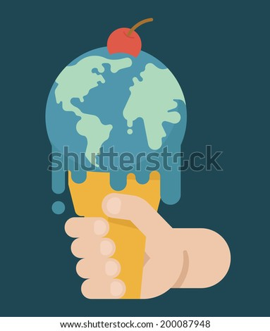 Global Warming , eps10 vector format - stock vector