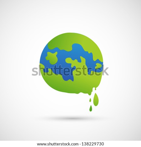 global warming icon vector - stock vector