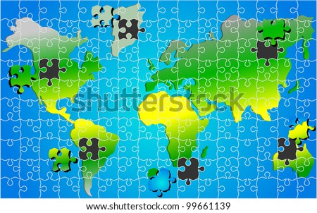 Global world map puzzle jigsaw background stock vector 99661139 global world map puzzle jigsaw background vector gumiabroncs Choice Image