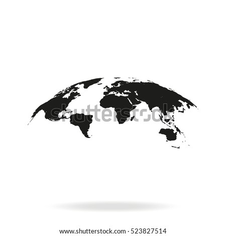 Global world map vector icon isolated stock vector 523827514 global world map vector icon isolated on white background earth planet illustration flat globe gumiabroncs Image collections