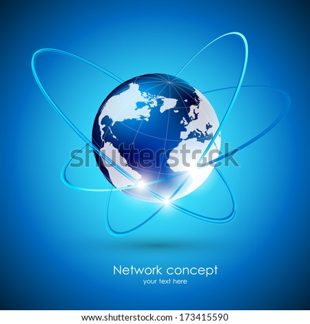 Globalization concept - stock vector