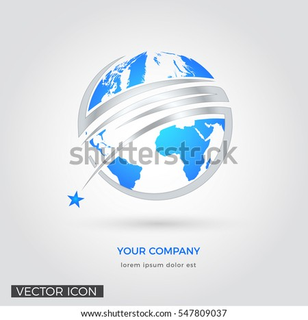 GLOBE ABSTRACT CORPORATE LOGO / ICON