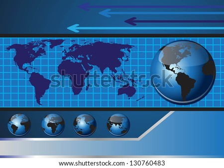 Globe abstract vector background