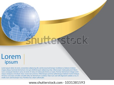 Globe world map business background light stock vector 2018 globe and world map business background light gray backdrop with gold lines and gradient gumiabroncs Choice Image