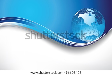 Globe background - stock vector