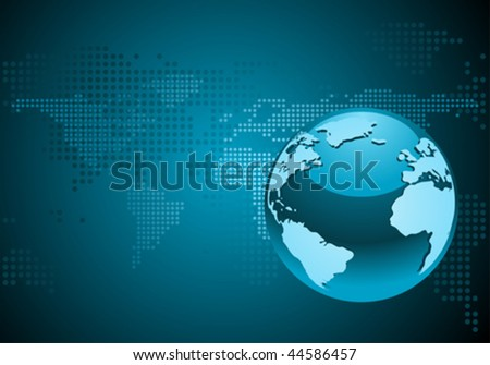 Globe blue background