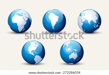 Globe Collection - stock vector