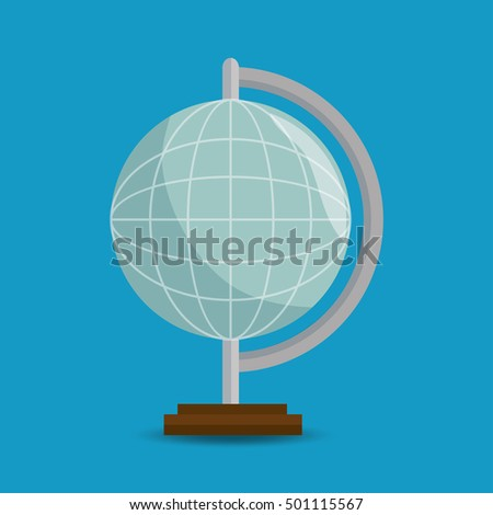 globe eart education online blue background