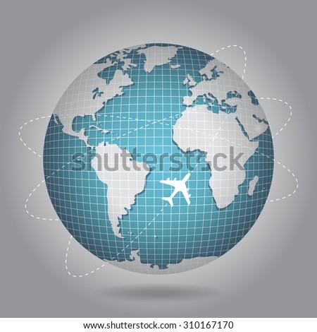 globe, earth, blue planet - stock vector