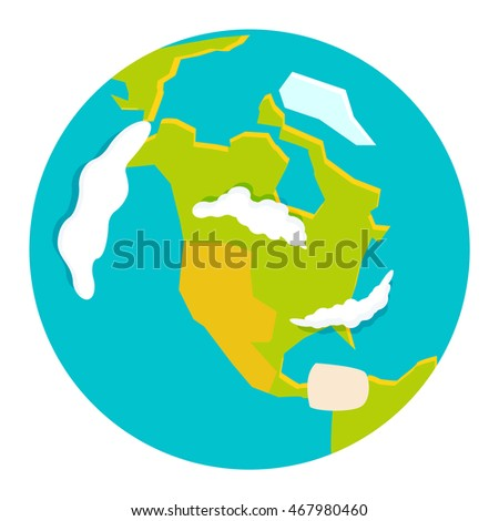 Globe earth icon planet map symbol vector illustration
