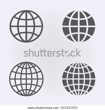 Globe earth icon set . Vector illustration