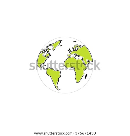 Globe earth Icon Vector. Globe earth Icon JPEG. Globe earth Icon Picture. Globe earth Icon Image. Globe earth Icon JPG. Globe earth Icon EPS. Globe earth Icon AI. Globe earth Icon Drawing - stock vector