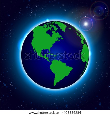 Globe Earth Icon. World Map with Globes detailed editable. Vector illustration. - stock vector