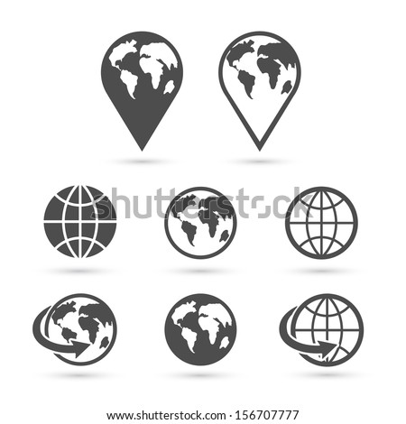 Vector globe icon free vector download 24645 Free vector
