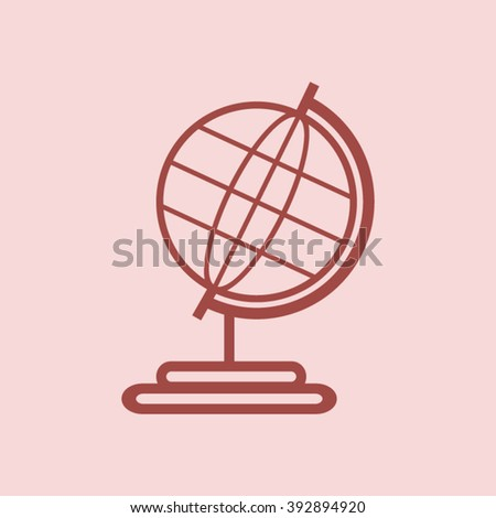 Globe earth - vector icon