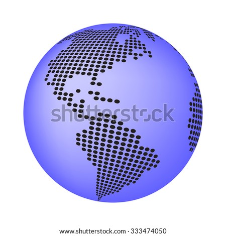 Globe earth world map abstract dotted stock vector 333474050 globe earth world map abstract dotted vector background blue wallpaper illustration gumiabroncs Images