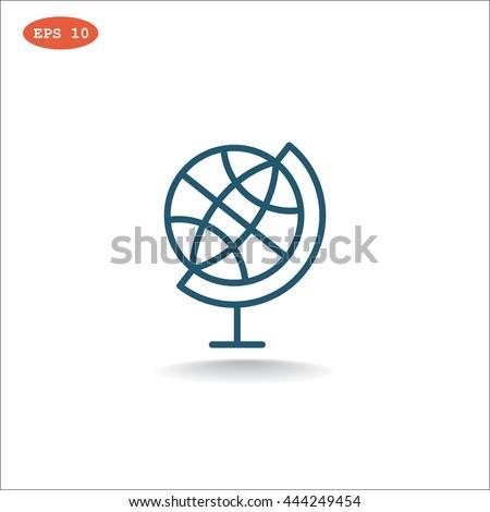 Globe icon, globe icon eps 10, globe icon vector, globe icon illustration, globe icon jpg, globe icon picture, globe icon flat, globe icon design, globe icon web, globe icon art, globe icon JPG, - stock vector