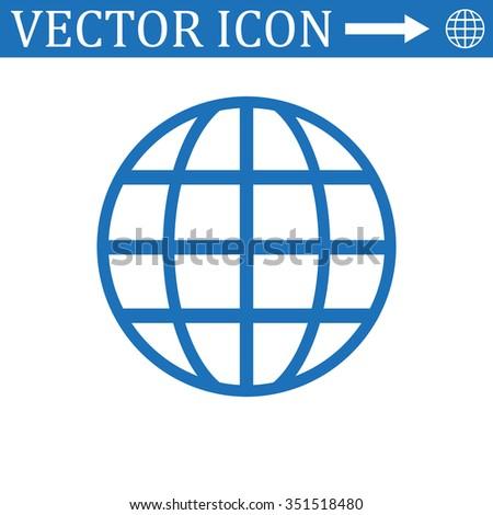 Globe Icon, Globe Icon Vector, Globe Icon JPG, Globe Icon JPEG, Globe Icon EPS, Globe Icon design - stock vector