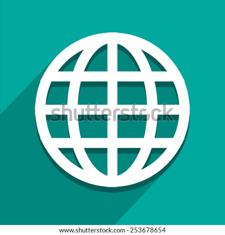 Globe icon great for any use. Vector EPS10.