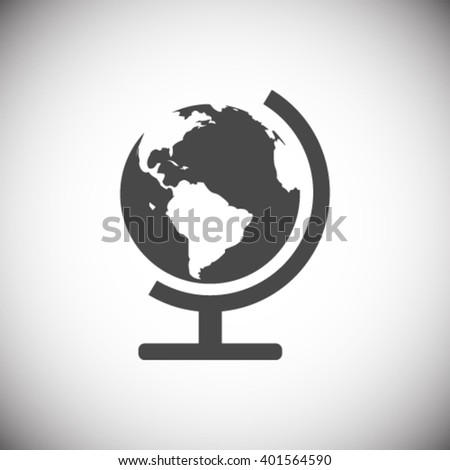 globe icon stock vector illustration - stock vector