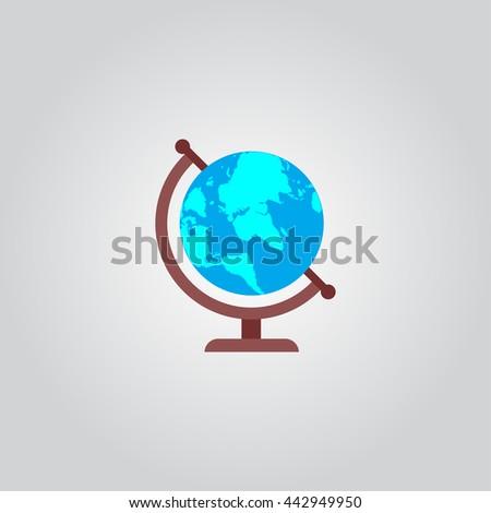 Globe icon vector - stock vector