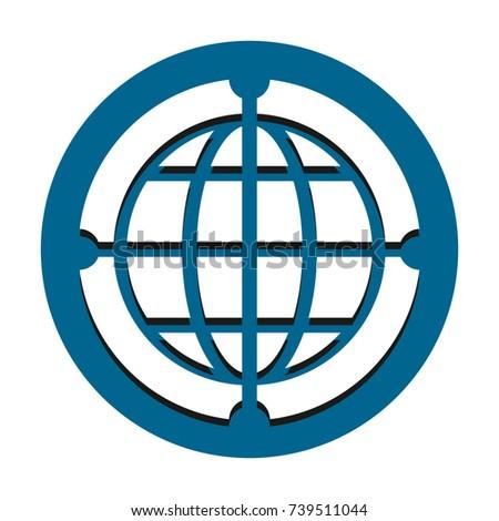 globe icon vector stock vector 739511044 shutterstock rh shutterstock com world globe icon vector globe icon vector free
