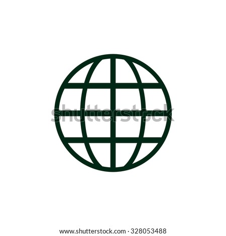 Globe. icon. vector design - stock vector