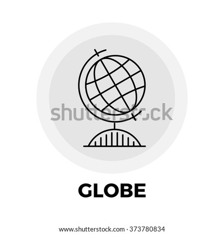 Globe icon vector. Flat icon isolated on the white background. Vector illustration. - stock vector