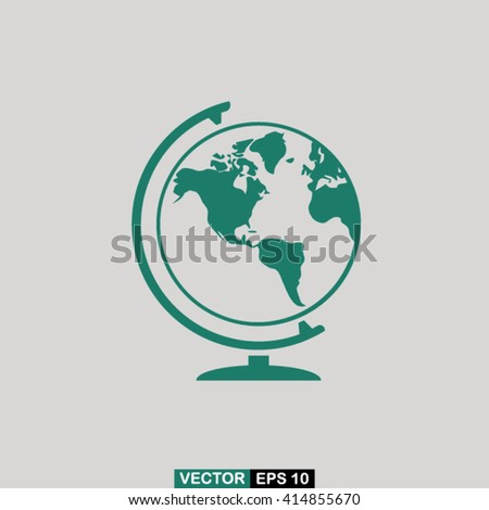 Globe icon vector, globe icon eps10, globe icon picture, globe icon flat design, globe icon, globe web icon, globe icon art, globe icon drawing, globe icon, globe icon jpg, globe icon object - stock vector