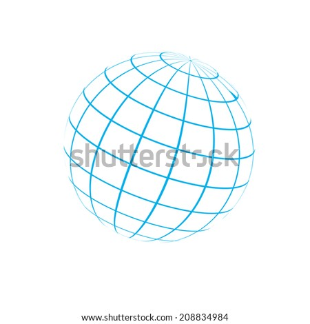 Globe icon vector illustration - stock vector