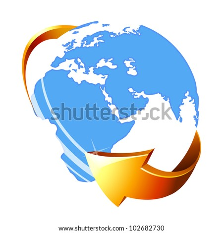Globe icon . Vector illustration. Eps 10. - stock vector