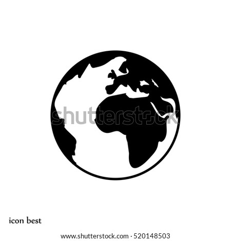 globe icon, vector illustration, vector best flat icon, EPS