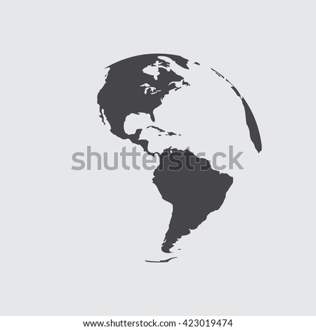 Globe icon with red map of the continents of the world. Earth icon, Earth icon eps10, Earth icon vector, Earth icon eps, Earth icon flat,  Earth icon web, Earth icon art, Earth icon, Earth icon - stock vector