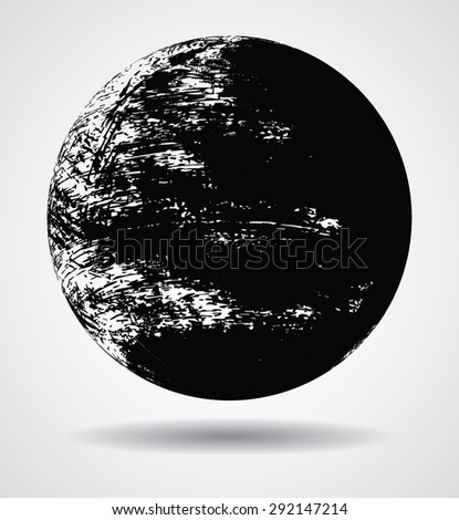 Globe made from Distressed Texture in Grunge Style . Vintage 3D Ball. Grunge Sphere Form . Decorative Ball Shape. Vector Illustration.  - stock vector