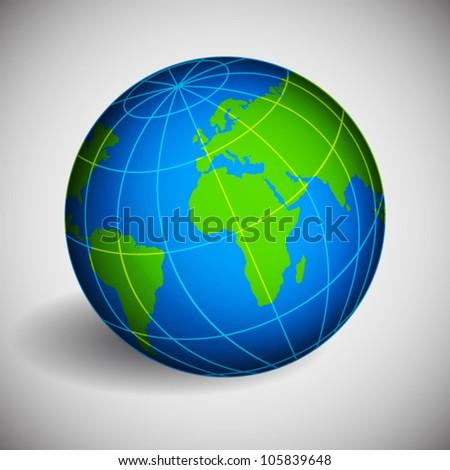 Globe of Earth. EPS10 vector - stock vector