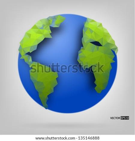 Globe of the world. EPS10 vector illustration. - stock vector
