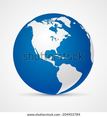 Globe of the world icon. Vector illustration - stock vector