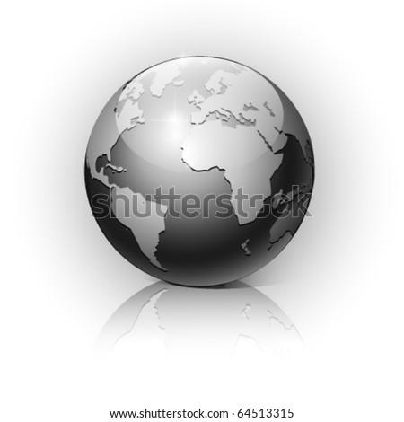 Globe on a white background. Vector illustration. Eps10. - stock vector