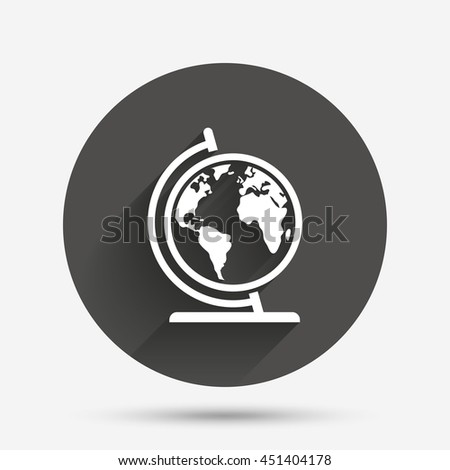 Globe sign icon world map geography stock vector 242304340 globe sign icon world map geography symbol globe on stand for studying circle gumiabroncs Images