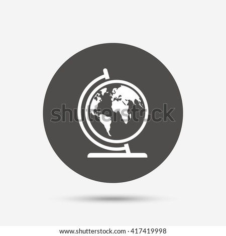 Globe sign icon world map geography stock vector 464635310 globe sign icon world map geography symbol globe on stand for studying gray gumiabroncs Images
