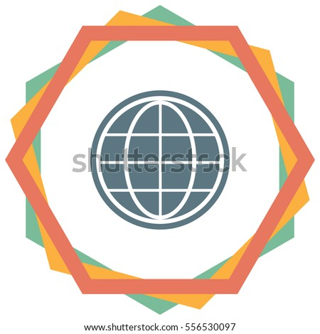 Globe vector icon. Earth sign. World symbol