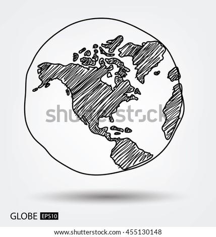Globe. vector Illustration. - stock vector