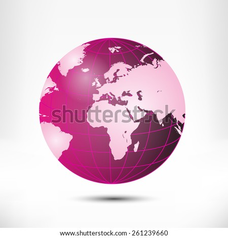 Globe vector illustration isolated on white background - stock vector