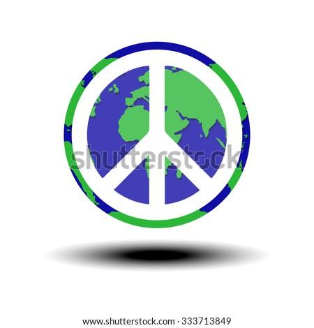 globe world peace symbol vector illustration stock vector