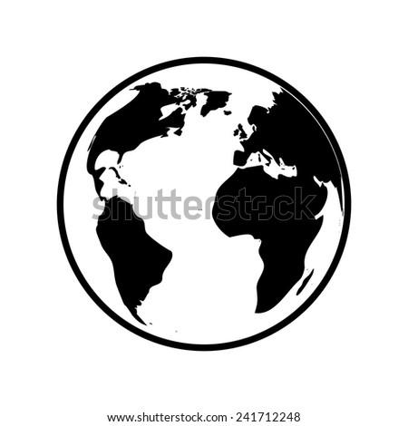Globe world map vector - stock vector